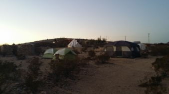 Terlingua Las Ruinas campsite - My tent was is the small green one in the front
