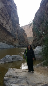 At the base of the Santa Elena Canyon, Big Bend